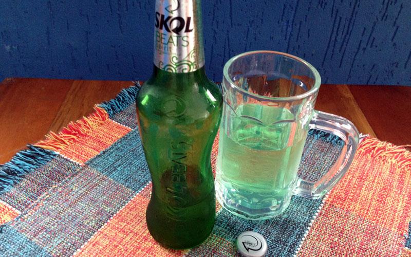 Skol Beats Spirit é uma mistura de cerveja, limão e maçã